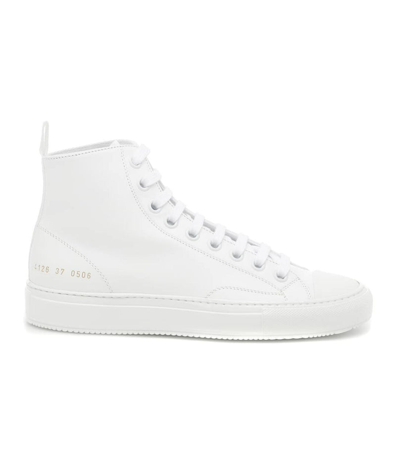 Common Projects Tournament High Leather Shiny Sole