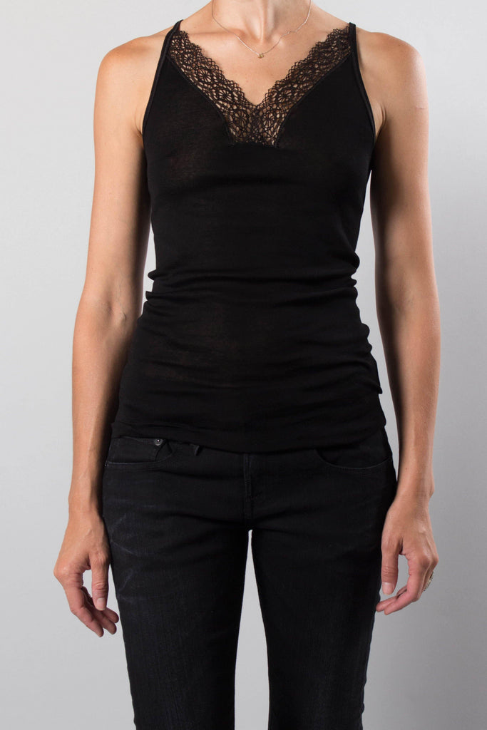 Vanessa Bruno Lace Trim Tank Top