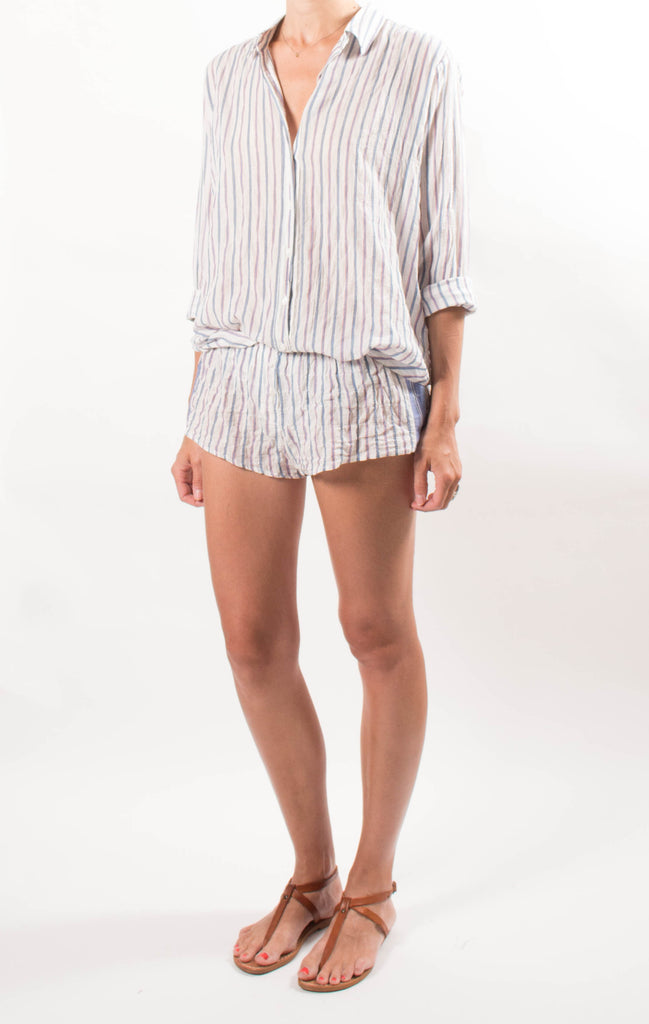 Xirena Striped Cotton Shorts