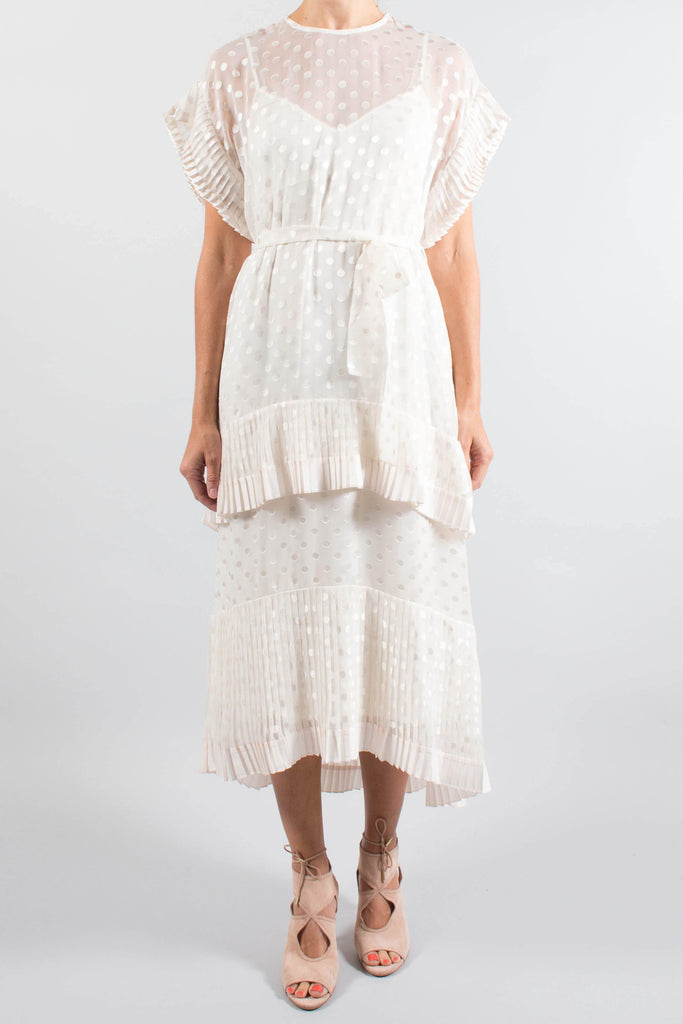 Zimmermann Pleated Polka Dot Dress