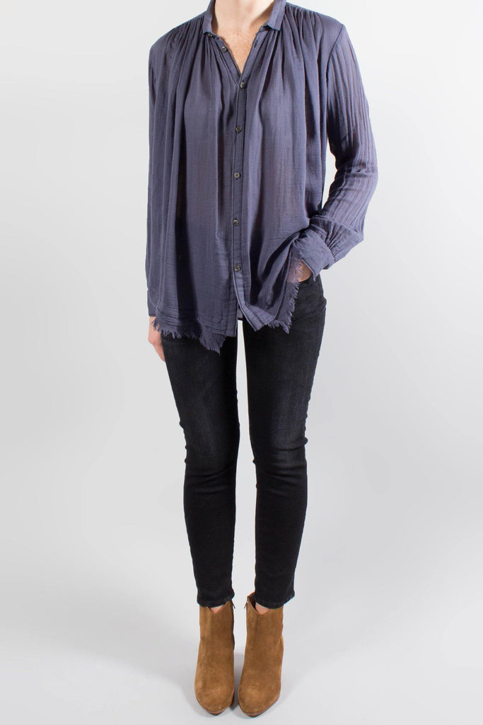 Pas de Calais Distressed Button Up Blouse
