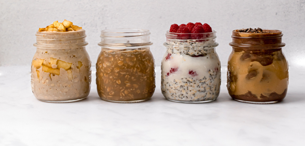 Protein Overnight Oats- 4 ways