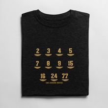 Boston Bruins retired numbers t shirt