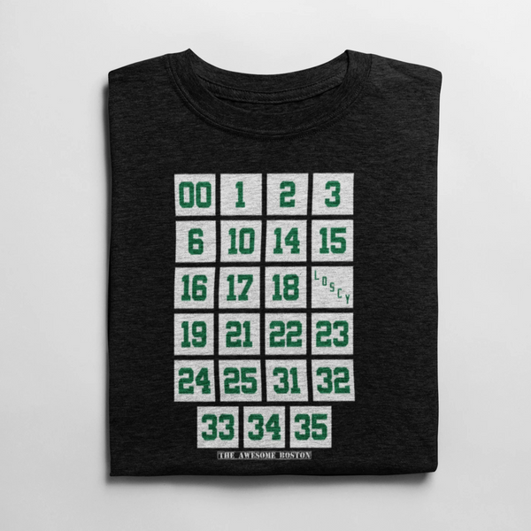 Boston Celtics Retired Numbers T Shirt