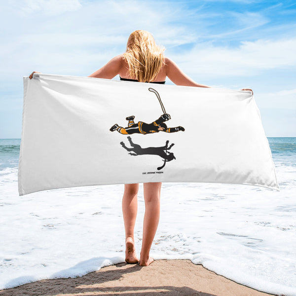 Bobby Orr The Goal Goat Boston Bruins Beach Towel