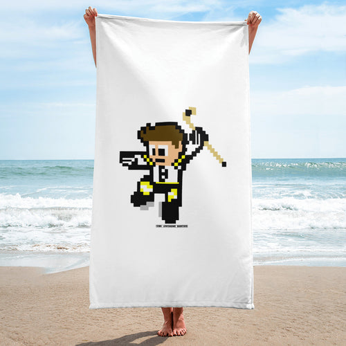 8 Bit Boston Bruins Hockey Beach Towel