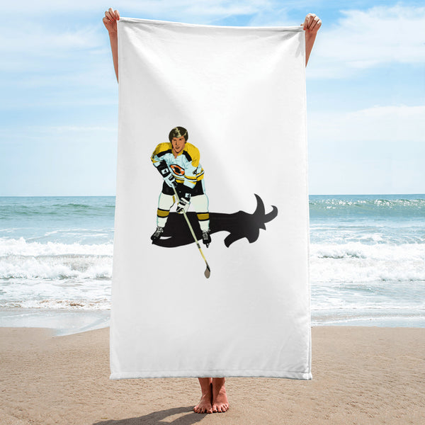 Bobby Orr Goat Boston Bruins Beach Towel