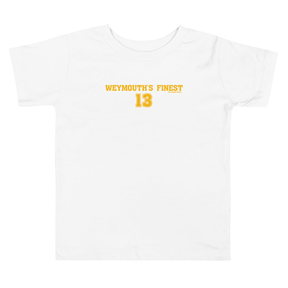 Boston Bruins Charlie Coyle Weymouth's Finest Toddler T Shirt