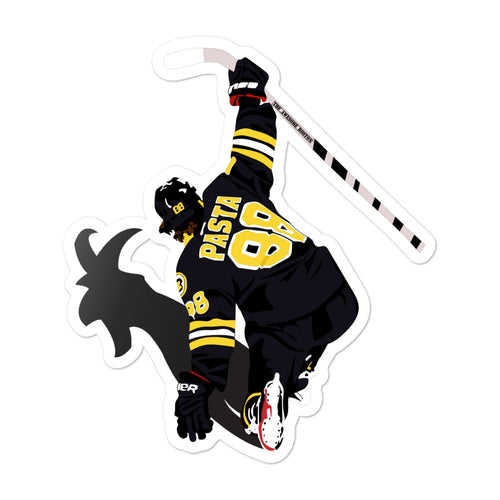 David Pastrnak Boston Bruins Pasta GOAT Sticker