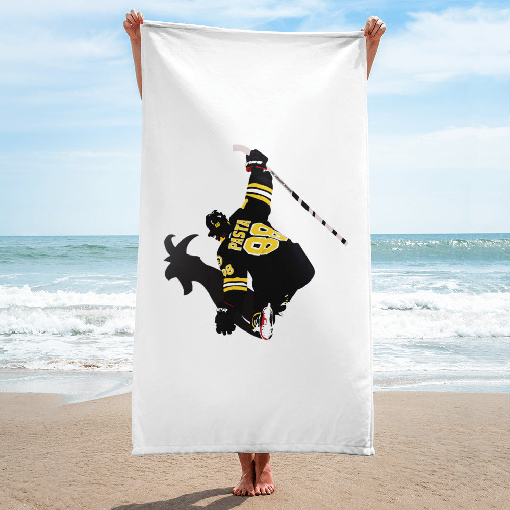 Pasta GOAT Boston Bruins Beach Towel