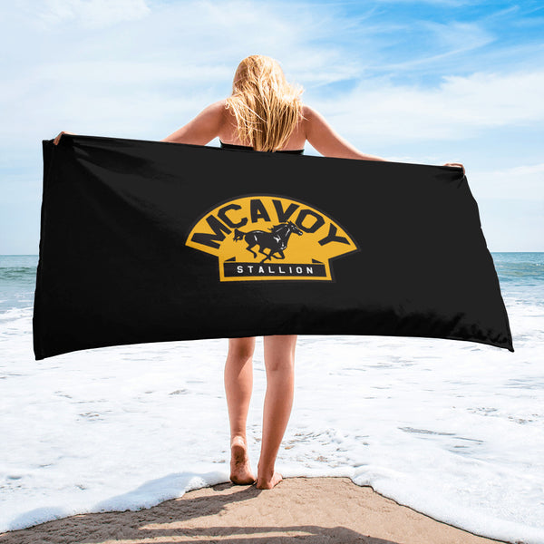 Charlie McAvoy Stallion Hockey Boston Bruins Beach Towel