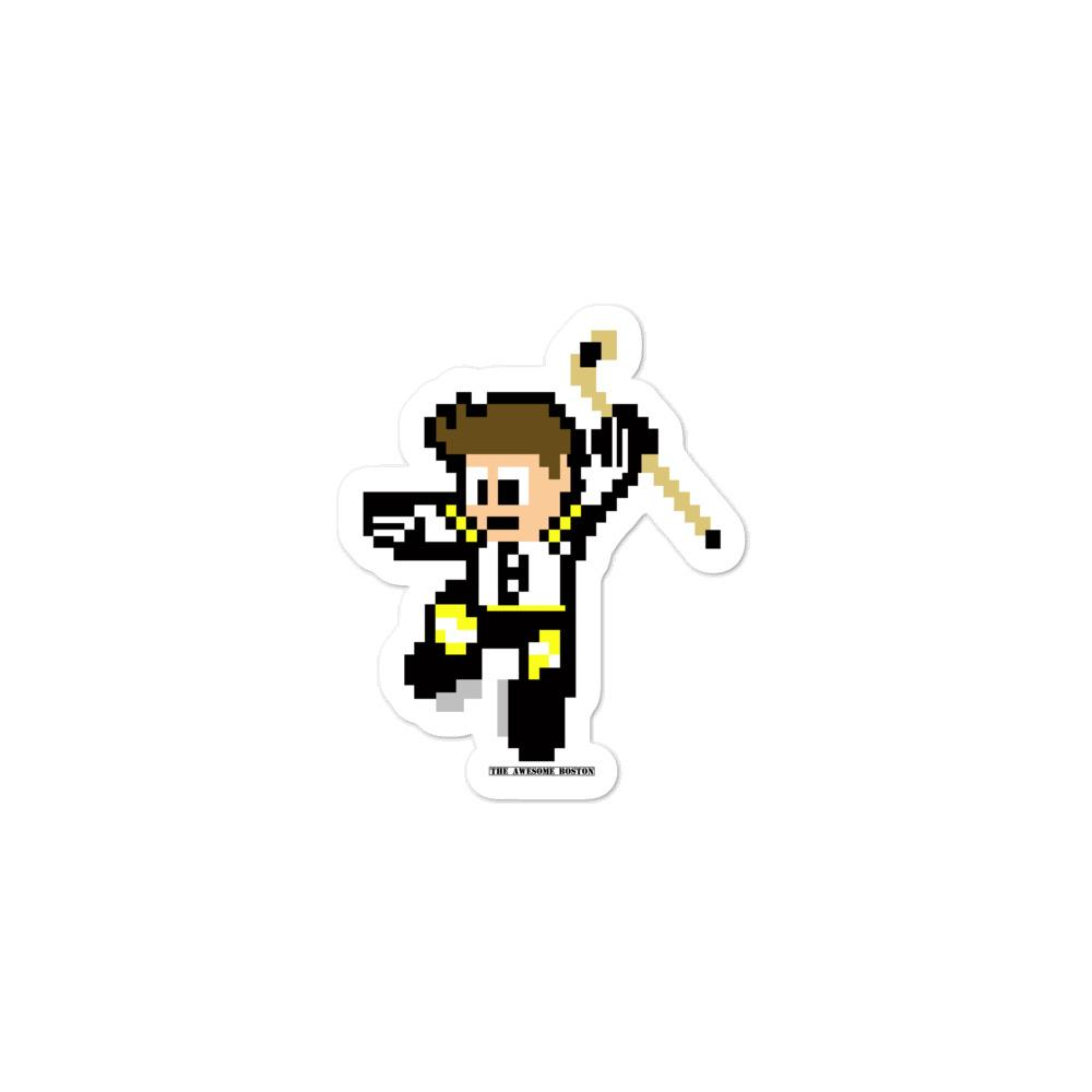 8 Bit Boston Bruins Hockey Sticker