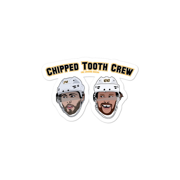 Boston Bruins 'Chipped Tooth Crew' David Pastrnak and Jake DeBrusk sticker