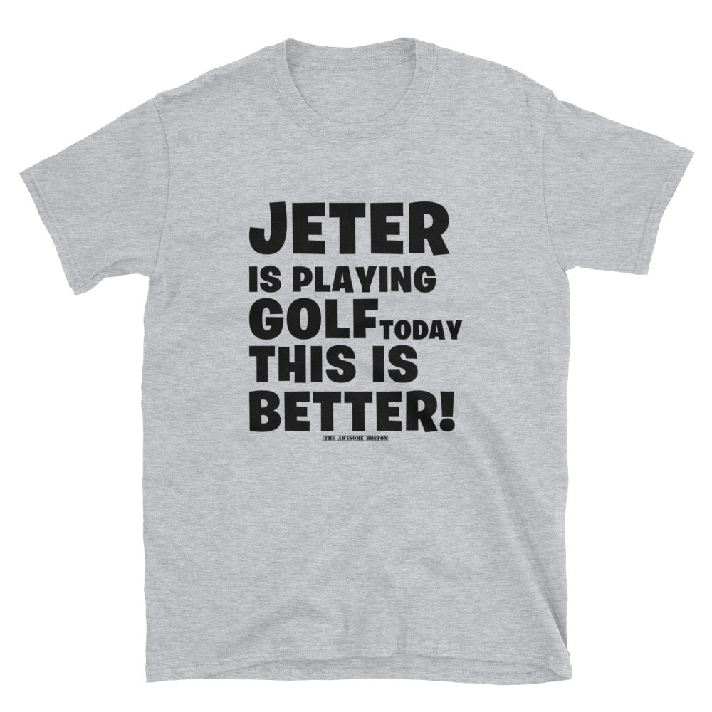 Boston Red Sox 2004 World Series Parade Jeter Golfing throwback shirt