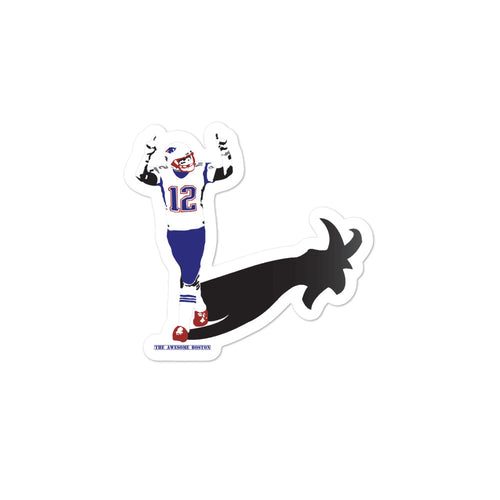 Tom Brady Goat Shadow Sticker