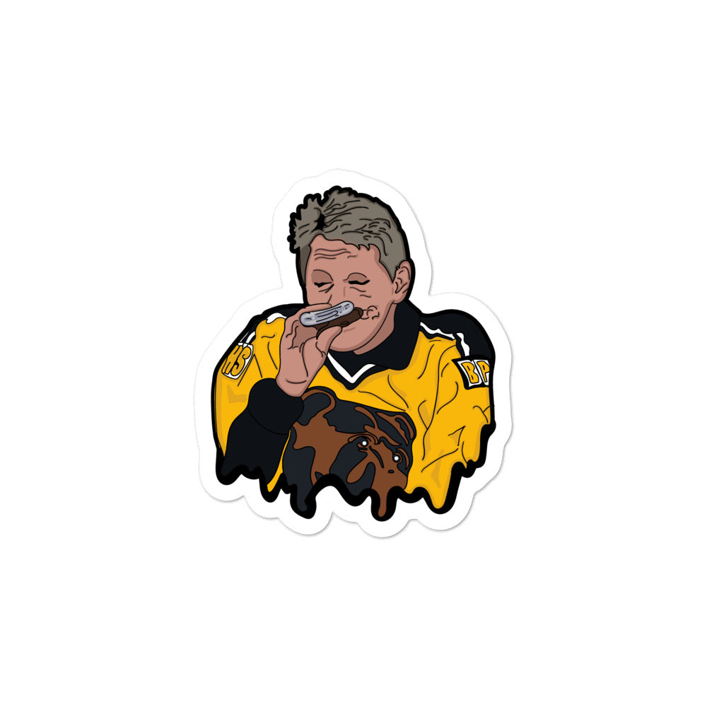 Iconic Boston Bruins Flask Drinker Sticker