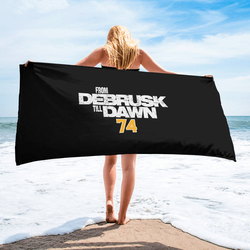 Jake DeBrusk From DeBrusk Till Dawn Boston Bruins Beach Towel