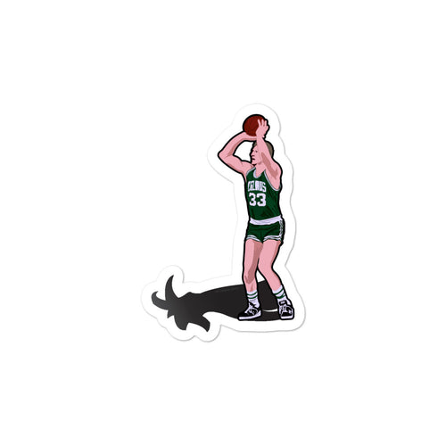 Larry Bird Goat Celtics Sticker