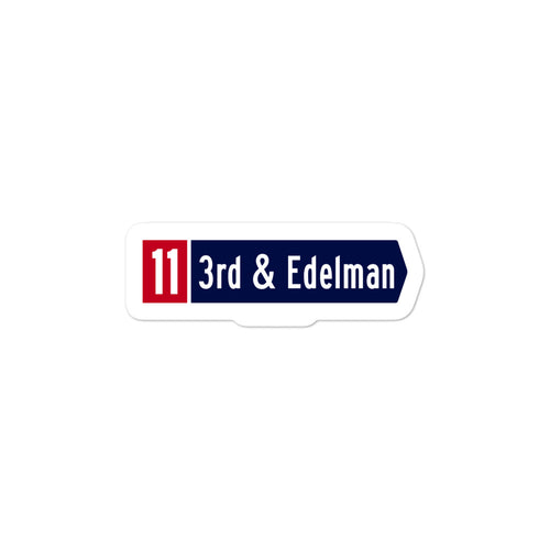 3rd & Edelman Sticker
