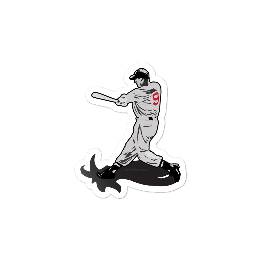 Ted Williams Goat Red Sox Sticker