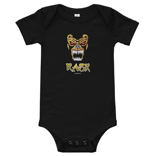 Boston Bruins Tuukka Rask Bear Mask Baby Infant Bodysuit