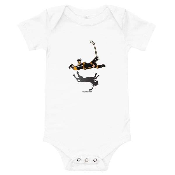 Boston Bruins Bobby Orr The Goal Goat Baby Infant Bodysuit