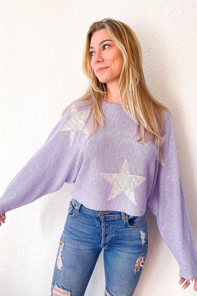 In The Stars Sweater - Lilac