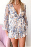 Afterglow Romper - Blue
