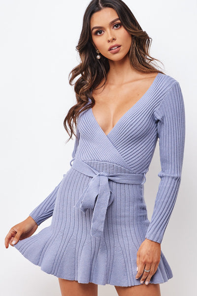 Periwinkle Sweater Dress