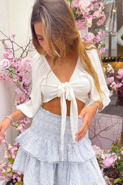 Ayla Crop Top - White
