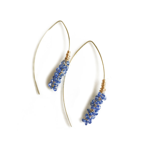 Cattail Gemstone Earrings