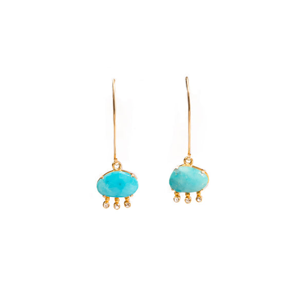 Ancient Turquoise Earrings