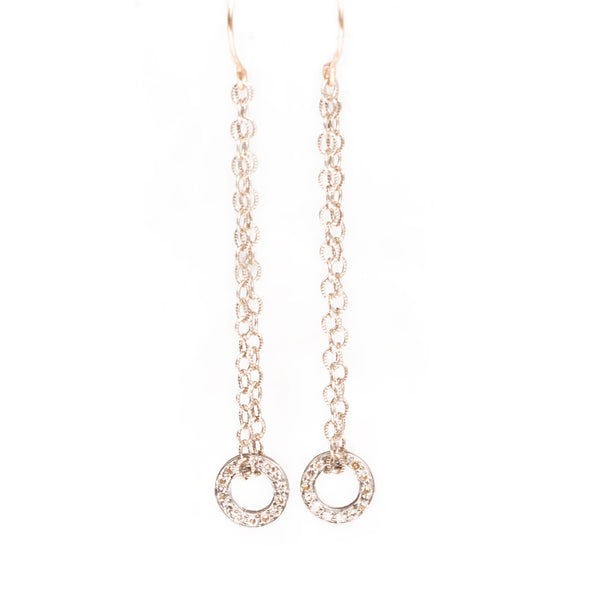 Diamond Eternity Drop Earrings