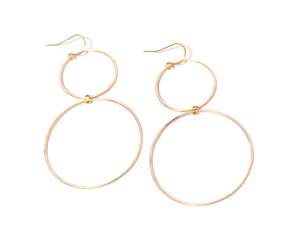 Hammered Double Hoops