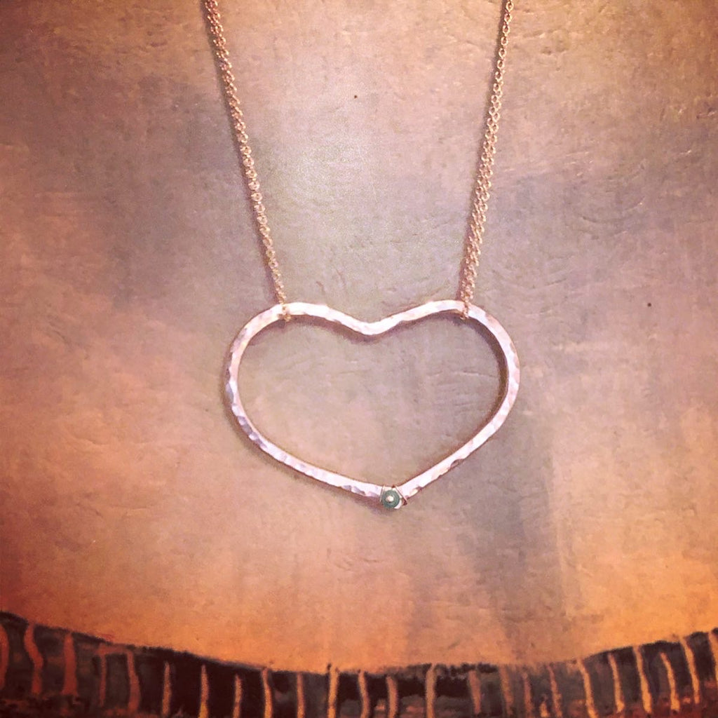 Riveted Heart Necklace