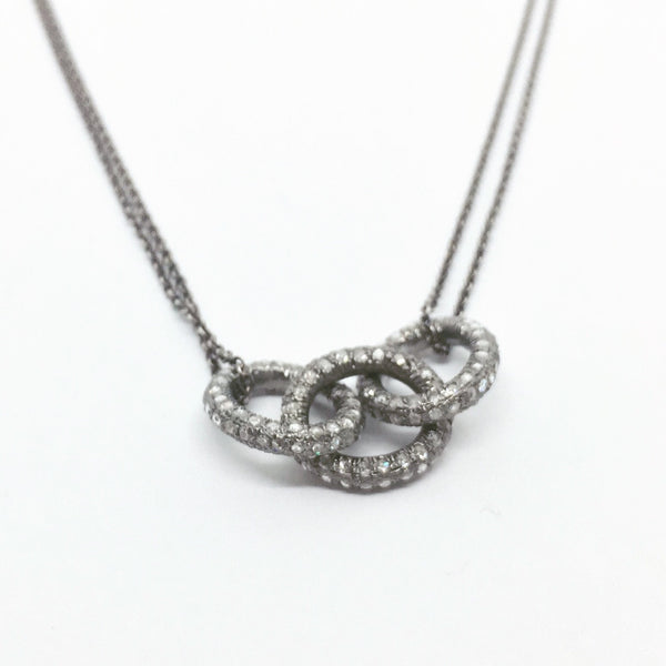 Pave Chain Link pendant