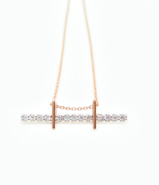 Golden Gate Diamond Bar Necklace