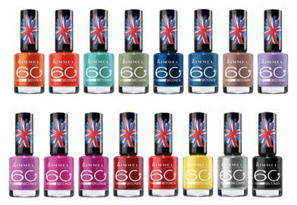 Rimmel 60 Second Nail Polish Pack Of 20