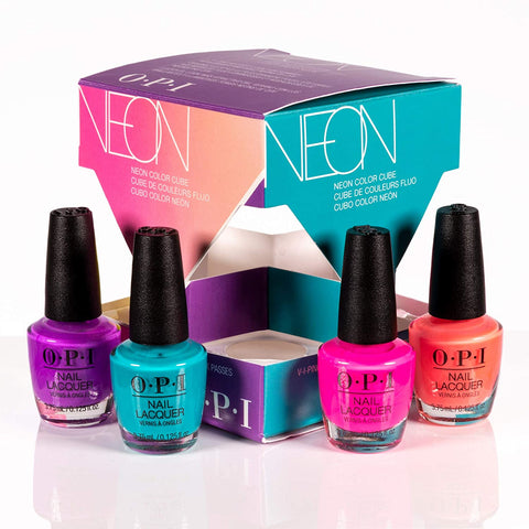 O.P.I Neon Nail Polish Collection Color Cube - Beautynstyle