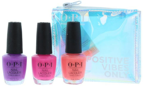 O.P.I Neon Nail Polish Trio Set Positive Vibes Only - Beautynstyle