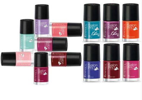 Rimmel London Salon Pro Nail Polish Assorted Set Of 9 - Beautynstyle