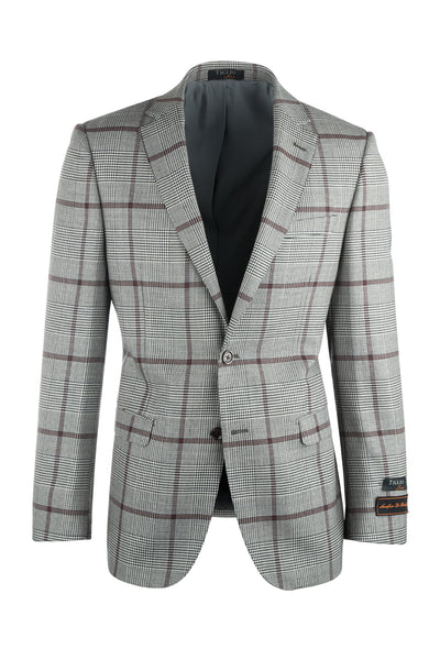 Sangria  Modern Fit, Pure Wool Jacket by Tiglio Luxe 225.314/3