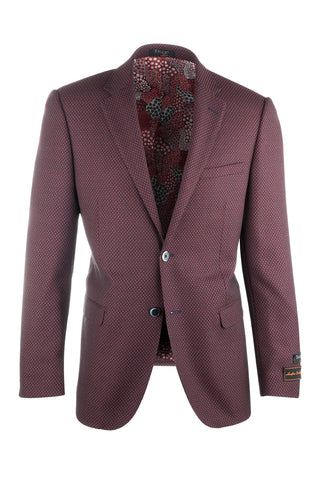 Sangria Modern Fit, Pure Wool Jacket by Tiglio Luxe 225321/1