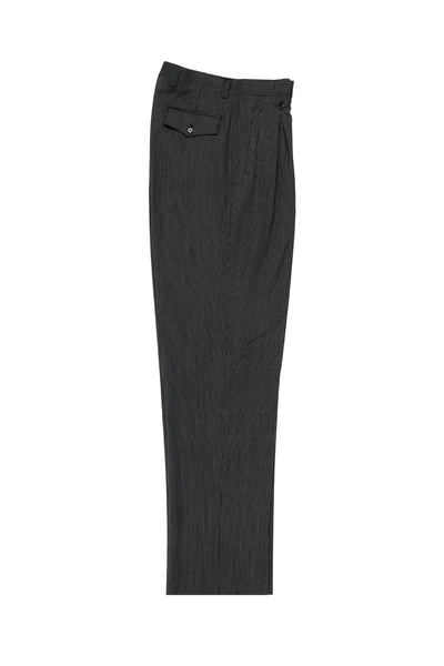 Pure Wool Dress Pants by Tiglio Luxe TIG1001 Black Wide Leg