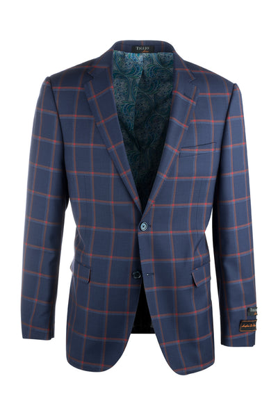 Sangria Modern Fit, Pure Wool Jacket by Tiglio Luxe 49319/1