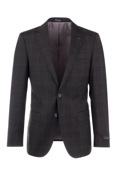 Porto Slim Fit, Pure Wool Jacket by Tiglio Luxe 74262/7