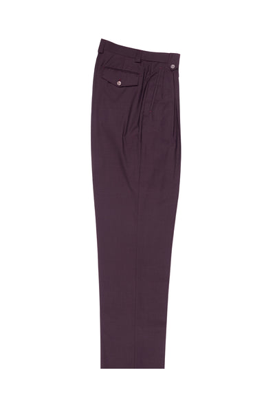 Wine Wide Leg, Wool Dress Pant 2586/2576 by Tiglio Luxe 848651/4245