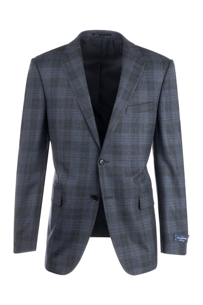Sangria Modern Fit, Pure Wool Jacket, Ermenegildo Zegna Cloth by Canaletto Menswear 868/2102
