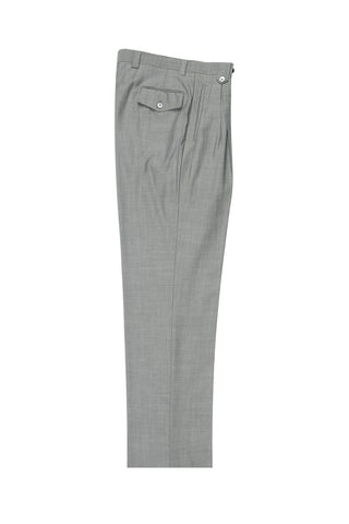 Light Gray, Wide Leg Wool Dress Pant 2586/2576 by Tiglio Luxe 876601/400
