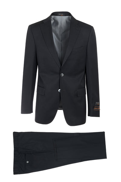 Dolcetto Black Modern Fit, Pure Wool Suit by Tiglio Luxe 96001/1